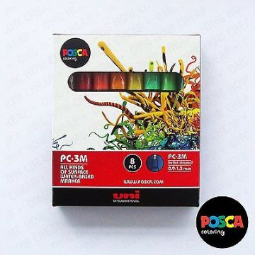 POSCA Art Paint Markers - PC-3M Full Spectrum Set of 16 - In 2 Gift Boxes